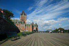 Frontenac slott i Quebec City Royaltyfri Fotografi