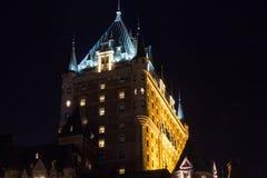 Frontenac slott i Quebec Kanada royaltyfria foton