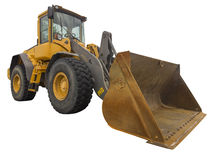 Frontend loader, isolated. Frontend loader on white, isolated with clipping path Stock Photos