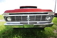 Frontend Truck. Frontend view of bumper and grill of old truck Royalty Free Stock Photography