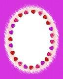 Frontera #2 de la tarjeta del día de San Valentín Imagen de archivo libre de regalías
