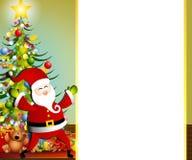 Frontera 2 de Navidad de Papá Noel Fotos de archivo