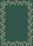 Frontera 3 del acebo de la Navidad Imágenes de archivo libres de regalías