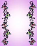 Frontera 3D de la mariposa Foto de archivo