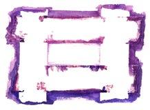 Frontera abstracta de la acuarela aislada en blanco Imagen de archivo libre de regalías