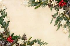 Frontera abstracta de la Navidad Fotografía de archivo libre de regalías