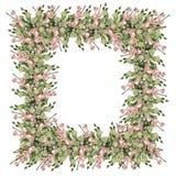 Frontera abstracta, flores fotografía de archivo