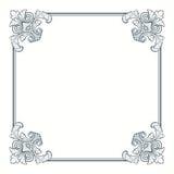 Frontera adornada caligráfica del marco de la vendimia del vector Fotografía de archivo