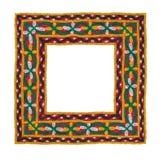 Frontera aislada cuadrado de la materia textil Imagen de archivo libre de regalías