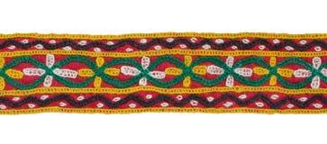 Frontera aislada de la materia textil Imagen de archivo libre de regalías
