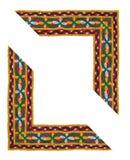 Frontera aislada en forma de L de la materia textil Imágenes de archivo libres de regalías