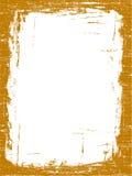 Frontera anaranjada de Grunged stock de ilustración