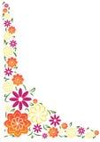 Frontera angular floral del verano brillante imagenes de archivo