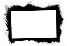 Frontera aplicada con brocha Imágenes de archivo libres de regalías