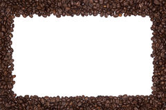 Frontera asada de los granos de café Foto de archivo libre de regalías