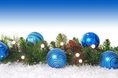Frontera azul de la Navidad fotos de archivo libres de regalías