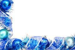 Frontera azul de la Navidad imagen de archivo