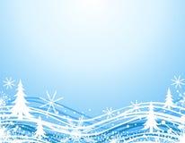 Frontera azul de la Navidad del invierno Imagen de archivo libre de regalías