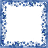 Frontera azul de las flores Fotografía de archivo