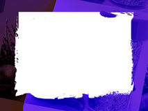 Frontera: Azul del ciruelo Imagen de archivo libre de regalías