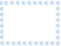 Frontera azul del copo de nieve Fotos de archivo libres de regalías