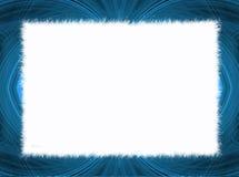 Frontera azul del fractal con el espacio blanco de la copia Imágenes de archivo libres de regalías
