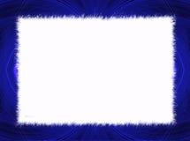 Frontera azul del fractal con el espacio blanco de la copia Foto de archivo libre de regalías
