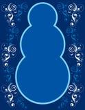Frontera azul del muñeco de nieve Imagen de archivo