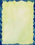 Frontera azul del vidrio manchado Imagen de archivo libre de regalías