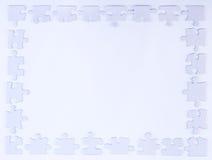 Frontera blanca del pedazo del rompecabezas Imagen de archivo libre de regalías