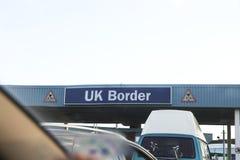 Frontera BRITÁNICA Imágenes de archivo libres de regalías