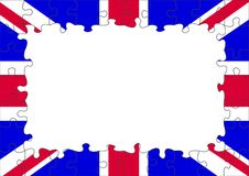 Frontera BRITÁNICA del rompecabezas del indicador Imágenes de archivo libres de regalías