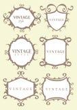 Frontera caligráfica de la vendimia Imagenes de archivo