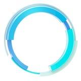 Frontera circular del marco del techno abstracto aislada Fotos de archivo