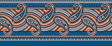 Frontera clásica de Paisley del indio ilustración del vector