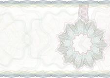Frontera clásica del guilloquis para el certificado. Foto de archivo libre de regalías