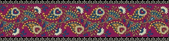 Frontera clásica india de Paisley ilustración del vector