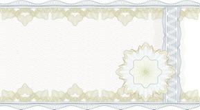 Frontera clásica del guilloquis para el certificado Imagen de archivo