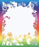 Frontera coloreada arco iris hermoso stock de ilustración
