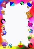 Frontera coloreada de los juguetes del bebé Imagen de archivo