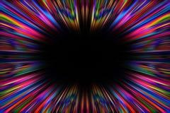 Frontera colorida de la explosión del starburst Fotografía de archivo