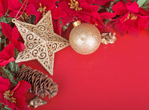 Frontera colorida de la Navidad Imagen de archivo