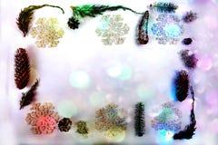Frontera colorida de la Navidad Imagenes de archivo