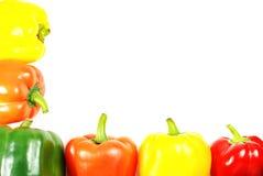 Frontera colorida de la pimienta Foto de archivo libre de regalías