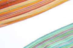 Frontera colorida de las bufandas fotos de archivo libres de regalías