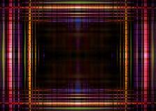Frontera colorida de las luces en negro Imágenes de archivo libres de regalías