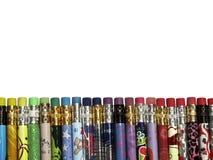Frontera colorida del lápiz Imagen de archivo