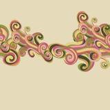 Frontera con el modelo a mano abstracto stock de ilustración