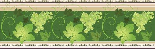 Frontera con la uva ilustración del vector