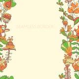 Frontera con las flores a mano abstractas libre illustration